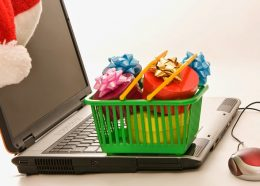 Laptop with gifts